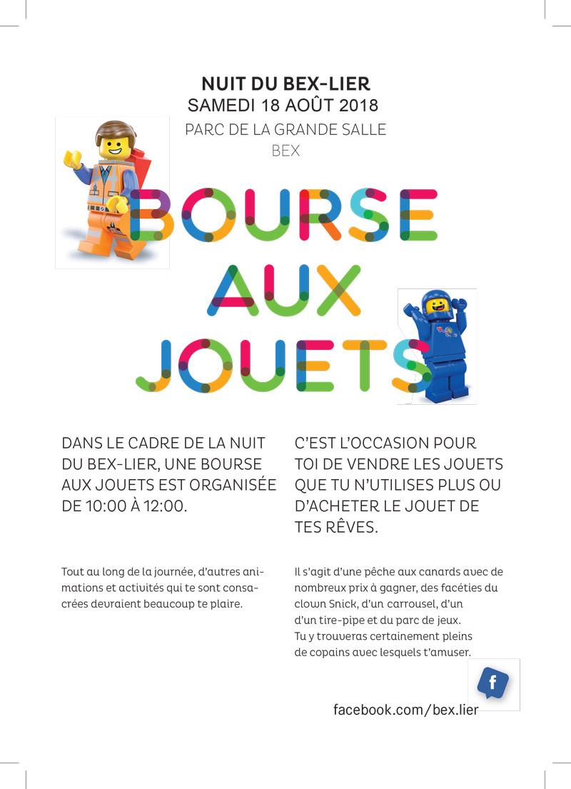 Affiche Bourse aux jouets - Nuit de Bex-Lier 2018