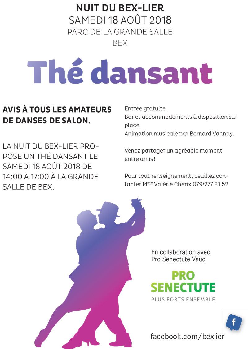 Affiche Thé dansant - Nuit de Bex-Lier 2018